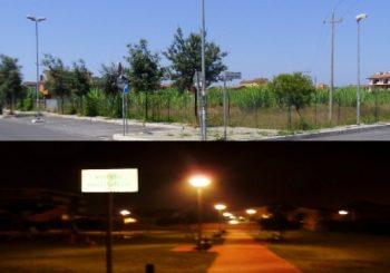 Via Monte Solarolo, luce al parco