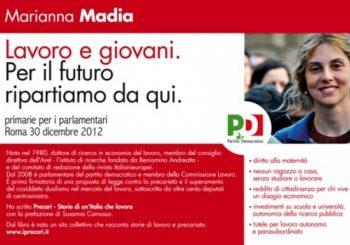 Marianna Madia alle primarie del Pd