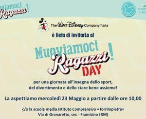 """Invito Disney: """"Muoviamoci Ragazzi Day"""" alla scuola di Torrimpietra"""