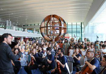 """Aida e musica popolare all'aeroporto """"Leonardo da Vinci"""""""