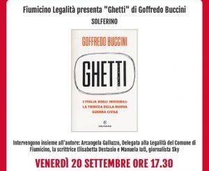 Fiumicino Legalità, presentazione libro di Goffredo Buccini il 20 settembre