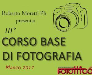 Fotottica Aldo, a marzo terzo corso base di fotografia