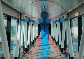 Opere anamorfiche in aeroporto per celebrare il genio di Leonardo