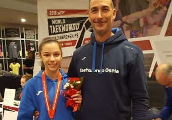 Taekwondo, bronzo mondiale Junior per Sofia