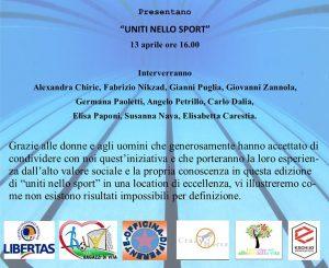 """""""Uniti nello Sport"""" all'Eschilo Sporting Village il 13 aprile"""