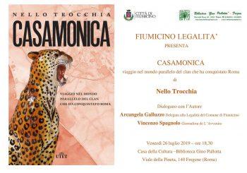 """Fiumicino Legalità, il libro """"Casamonica"""" il 26 luglio alla Casa della Cultura"""