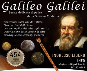 Maccarese, conferenza su Galilei il 24 febbraio