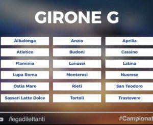 Sff Atletico nel Girone G, oggi i calendari