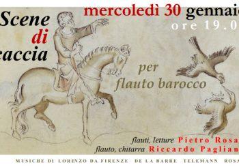 """Maccarese, """"Scene di caccia per flauto barocco"""" il 30 gennaio"""