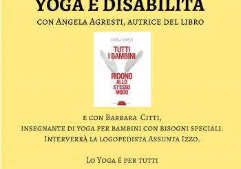 Yoga e disabilità, incontro il 26 novembre
