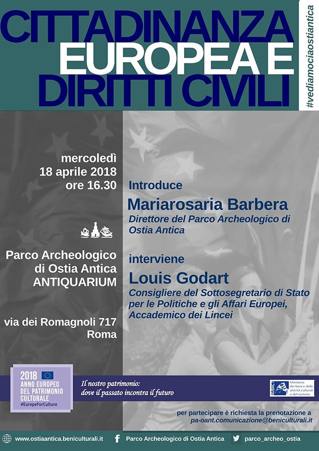locandina 18 aprile Godart Barbera a Ostia Antica