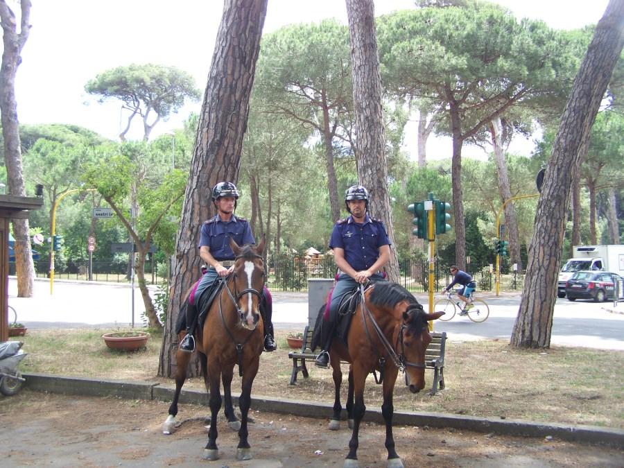 polizia a cavallo ok